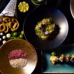 Stylish displays of food square image